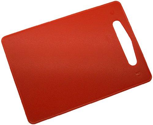Fackelmann 39016 Schneidbrett Kunststoff LLDPE, 34 x 24 cm, rot