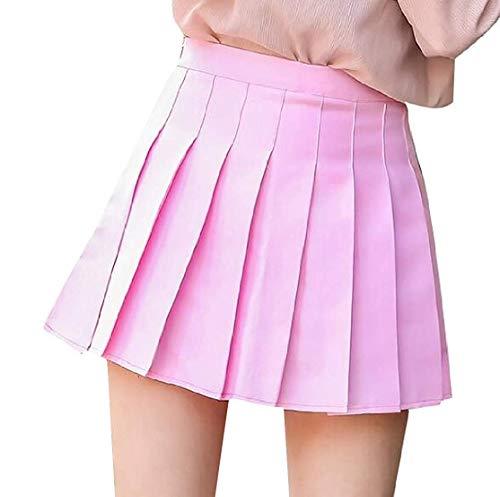 Da Size Gonne A Colore Con Pieghe Mini Home Dress Pink Donna Di Pink Puro Xs color Girls qS6vp