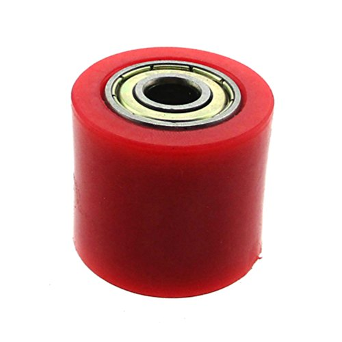 XLJOY 5 pcs 8mm Rubber Chain Roller Wheel Tensioner Pulley For Chinese Pit Dirt Bike 50cc-160cc(Red) by XLJOY (Image #5)