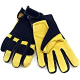 Golden Eagle Winter Lined Deerskin Leather Gloves with Windproof Heatlok (Mechanics Style), Large