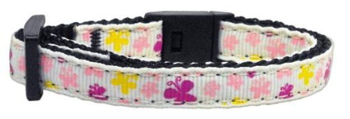 Butterfly Nylon Ribbon Collar White Cat Safety (24 Pack) [Misc.] by None