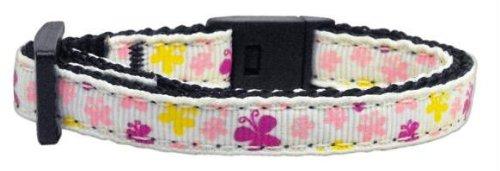 Butterfly Nylon Ribbon Collar White Cat Safety Case Pack 24 Butterfly Nylon R...