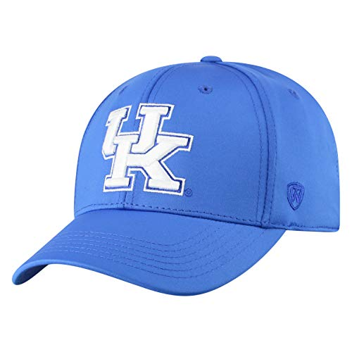 Kentucky Fitted Hat - Top of the World Kentucky Wildcats Men's Fitted Hat Icon, Royal, One Fit