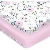 Pickle & Pumpkin Crib Sheets | 100% Organic Cotton Nursery Bedding | 2 Pack Fitted Crib Bedding Set for Girls | Fits Standard Baby Crib Mattress & Toddler Mattress |