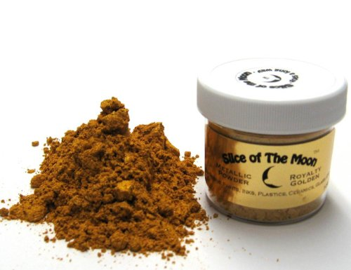 Royalty Golden Mica Powder 1Oz  Gold Metallic Powder  Cosmetic Mica  Slice Of The Moon