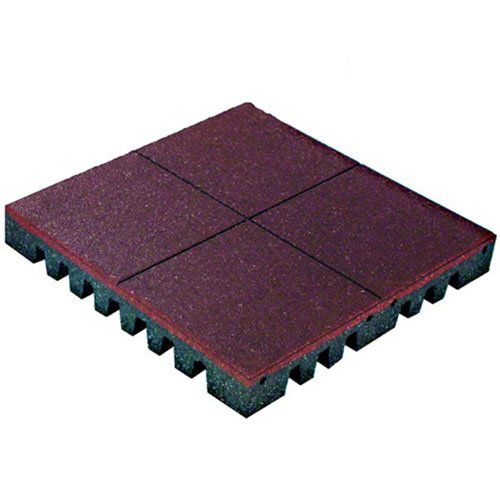 PlayFall Playground Safety Surfacing Terra Cotta Package of 5-2' x 2' Rubber Tiles (20 sq. ft.) 2.5'' Thickness by KIDWISE