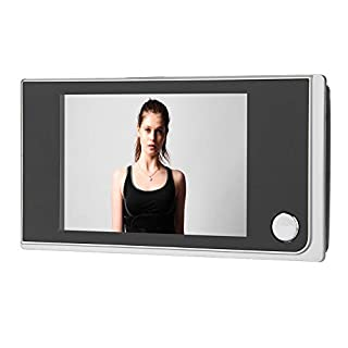 "ROBTLE Greeter Digital Door Viewer & Doorbell, 3.5"" LCD Security Camera Monitor 120 Degree Peephole Viewer Photo Visual Monitoring"
