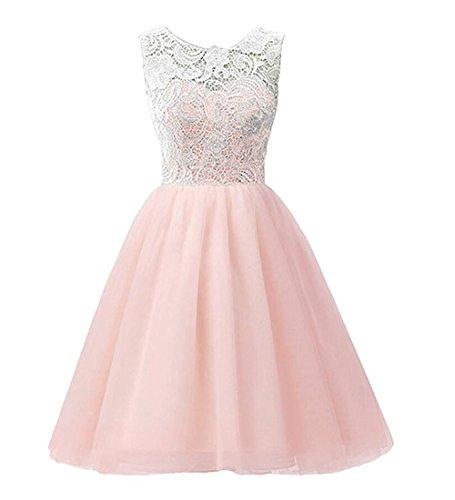 MA&BABY Girls Dress Tutu Party Sundress Slim Lace Chiffon One Piece Dress (7-8 T, Pink)