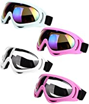 LJDJ Ski Goggles, Pack of 4 - Snowboard Motorcycle Goggles Tactical Combat Military Glasses