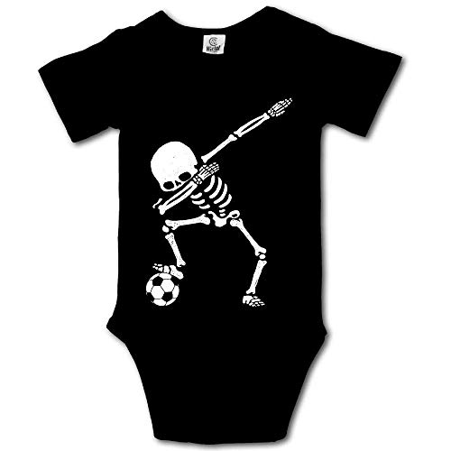 Ting room Dabbing Skeleton Soccer Baby Short-Sleeve Onesies Bodysuit Baby Outfits Black-12 Months