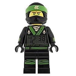 LEGO NINJAGO MOVIE Lloyd Kids Minifigure Light Up Alarm Clock | green/black | plastic | 9.5 inches tall | LCD display | boy girl | official