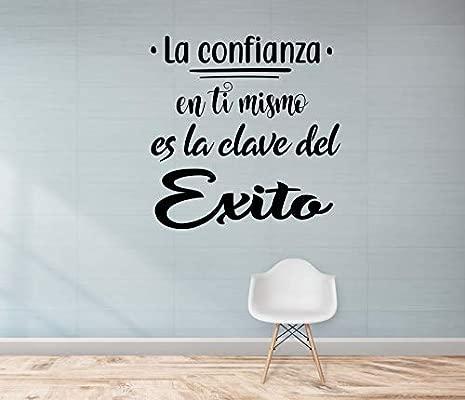 Crisphy Frase Vinilola Confianza En Ti Mismo Es La Clave