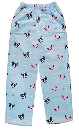 - iscream Big Girls Fun Print Silky Soft Plush Pants - Frenchie, X-Small (4/6)