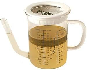 Catamount Glassware 4-Cup Gravy Separator with Strainer