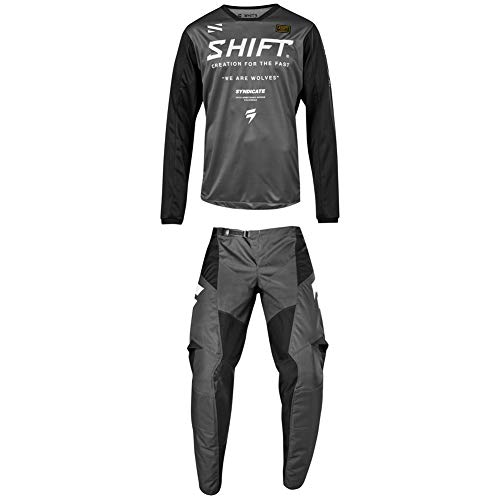 Shift Racing 2019 Adult WHIT3 Label Muse Jersey and Pants Combo - SMOKE - M/32W