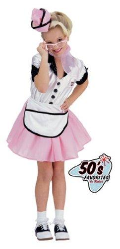Child 50's Soda Pop Girl Costume - -