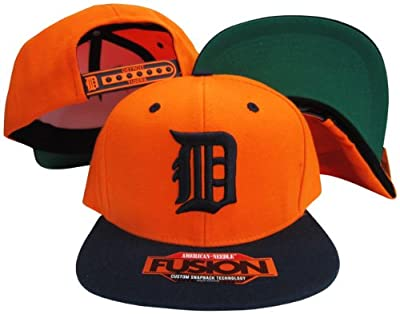 Detroit Tigers Orange/Navy Two Tone Fusion Snap Adjustable Snapback Hat/Cap