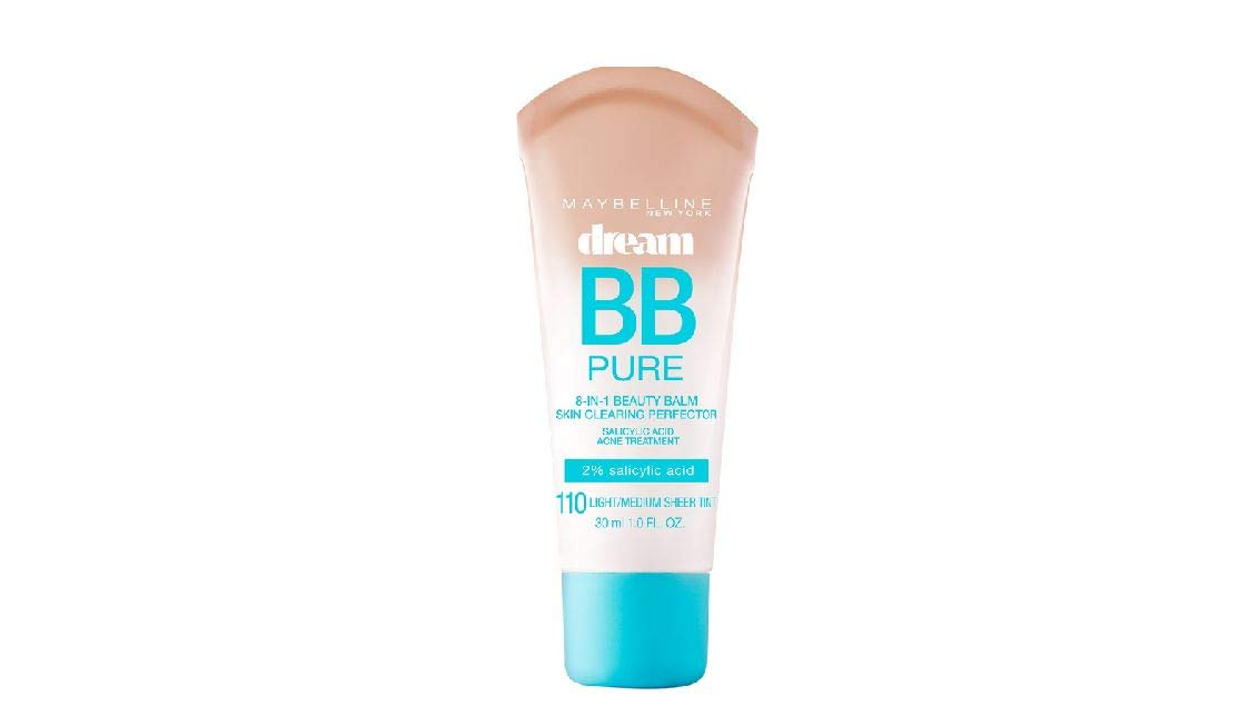 Maybelline New York Dream Pure BB Cream Skin Clearing Perfector, Light/Medium, 1 Fluid Ounce (Packaging may vary) Inc. boi-opp-klo-uyi4721