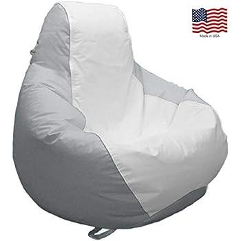 Amazon Com Ocean Tamer Arm Chair Bean Bag White Tan