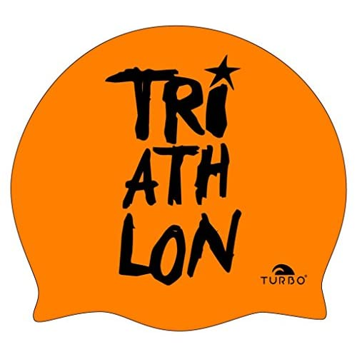 Turbo Bonnet de bain en silicone Bonnet de bain Triathlon Orange