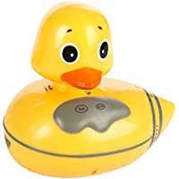 Sharper Image Floating Duck Bath Radio - FM and AM Radio - Waterproof - Easy to Use and Clean - 5.6 Inches x 5.25 Inches