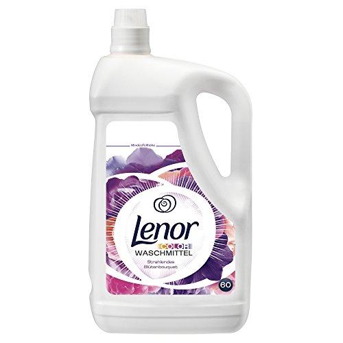 Lenor Colorwaschmittel Flüssig Strahlendes Blütenbouquet, 4.2L, 2er Pack (2 x 60 Waschladungen)