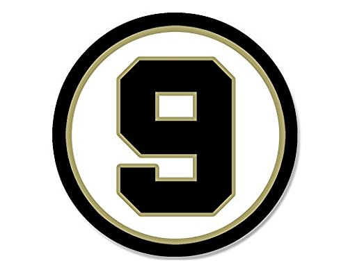 Drew Brees Saints Colors Sticker New Orleans Number 9 - Sticker Graphic - Auto, Wall, Laptop, Cell Auto, Wall, Laptop, Cell Phone, Notebook, Bumper, Window, Truck