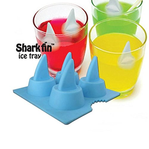 Cool Silicone Shark Fin Ice Cream Jelly Chocolate Mold Tray Cube Party Bar Drink Maker(Random Color) HuaYangca