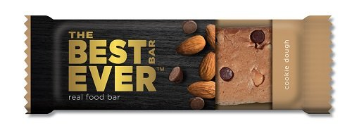 (Best Bar Ever Protein Food Bar - Cookie Dough Flavor. Real Food, Real Delicious. Nothing Artificial, Non-GMO. Box of 12 (65 grams)