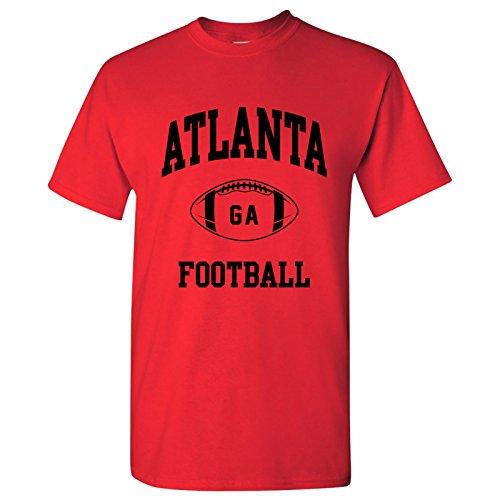 Atlanta Classic Football Arch Basic Cotton T-Shirt - Medium - Red ()