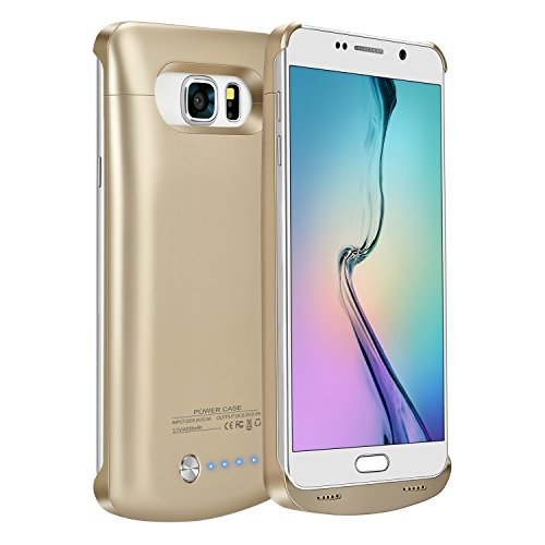 Note 5 Battery Case,Elebase External Rechargeable Charging Pack,4200mAh Protective Portable Backup Charger Case Power Bank for Samsung Galaxy Note 5(Gold)