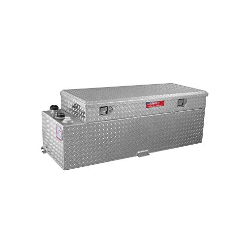 Brite Tread Plate/60 GallonsSee Dimensions Below Gas Or Diesel Fuel Transfer Tank Toolbox Combo - 50, 60 and 90 Gallons RDS-72548 ()