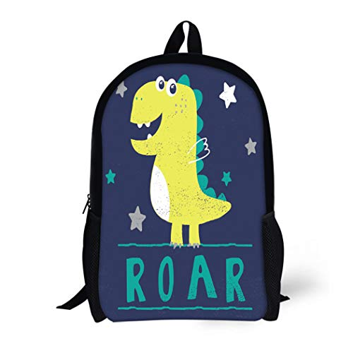 High Baby Tee School - Pinbeam Backpack Travel Daypack Dino Little Dinosaur Typo for Baby Tee Cool Waterproof School Bag