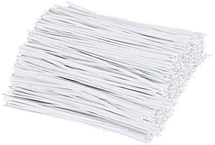 Facibom 300 Unids PláStico Color Blanco TorsióN/Sujetacables/Sujetacables/Nariz para Manualidades de Costura DIy Organizador Cable de Alambre