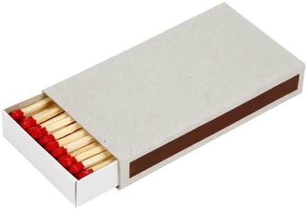 Caja de cerillas, rectangular, medidas 11,2x6x1,8 cm, 12ud: Amazon ...