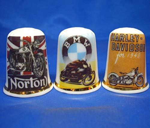 Vintage Sports Moto Birchcroft China Lot de 3 d/és /à Coudre en Porcelaine