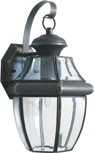 Forte Lighting 1201-01 Outdoor Wall Sconce from the Exterior Lighting Collection, Royal Bronze