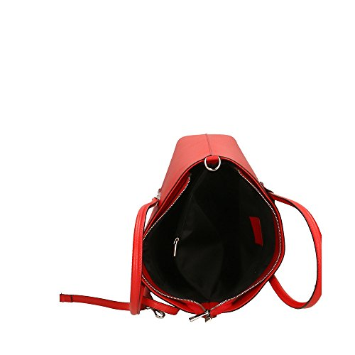 In Made Cm Véritable En Cuir Bandoulière À Rouge Italy Aren Sac 35x29x12 Femme xq6081Bw