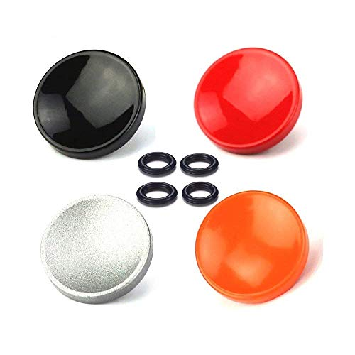 Buttons Touch Soft - LXH 4 PACK (Red+Silver+Black+Orange) Soft Shutter Release Button for Camera with Shutter Release Socket Fits Fujifilm X-PRO2, XPRO-1,X100F, X100T, X100, X100S, X10, X20, X30, X-E1, X-E2,X-E2S, STX-2