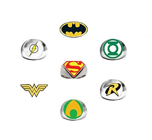 DC Comics Super Hero Power Rings (7