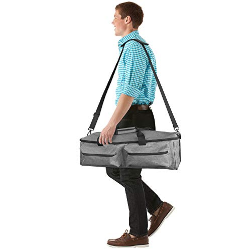 JOYPEA Carrying Bag Compatible with Cricut Explore Air and Maker, Tote Bag Compatible with Cricut Explore Air and Supplies (Bag Only), Made of Heavy-Duty Nylon,Gray (Grey) by JOYPEA (Image #4)