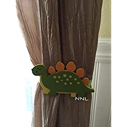 Nursery Curtain Tie Backs - 2pc Set Nursery Decor - Dinosaur