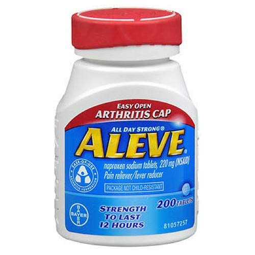 Aleve Tablets Easy Open Arthritis Cap 200 Tablets (Pack of 3)