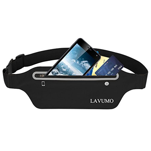 Women Men Phone Running Belt for iphone X 8 7 6 Plus - Reflective Elastic Waterproof Waist Pack for Samsung Galaxy S8 Plus Note 8 Fitness Jogging Gym Yoga Cycling Hiking Belt Bag fit Phone below 6.5