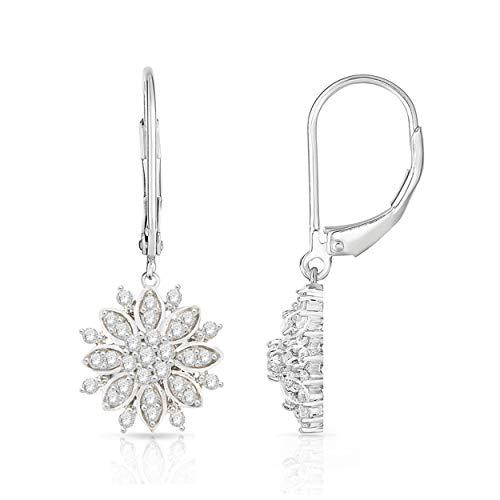 NATALIA DRAKE 1/2cttw Diamond Snowflake Fashion Earrings ()