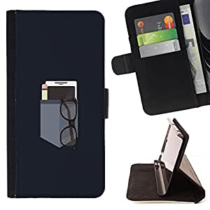 BullDog Case - FOR/HTC One M7 / - / MINIMALIST POCKET /- Monedero de cuero de la PU Llevar cubierta de la caja con el ID Credit Card Slots Flip funda de cuer