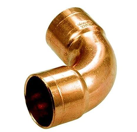 Tubería de agua de cobre apropiado codo conector hembra de soldadura x 22 mm de diámetro femenina: Amazon.es: Bricolaje y herramientas