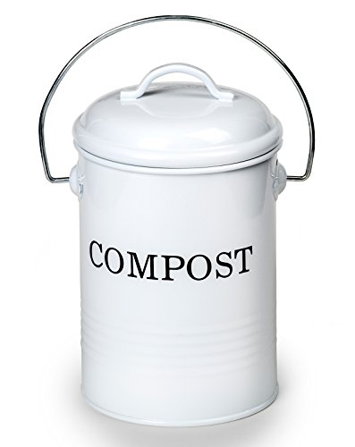 [50% OFF - Sale Ends Dec 24] 0.8 Gallon Kitchen Compost & Waste Bin with Lid - Non-Toxic & Lead-Free - Leak-Proof & Durable Galvanized Steel with Powder Coating (Compost Bins Kitchen compare prices)