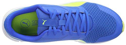 Puma Flexracer Zapatillas Unisex Niños Azul (Electric Blue lemonade-safety Yellow 04)