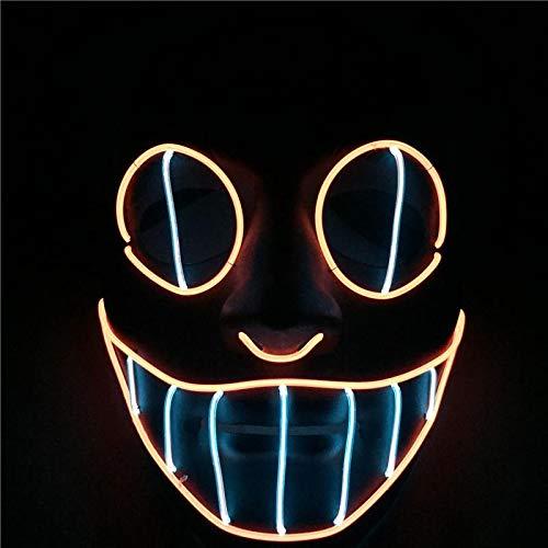 Máscaras neón LED purga disfraz halloween